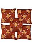 Coussin Ameublement Couvre-concepteur de cru Coussin Indian couverture ethnique Taille oreillers 16 x 16 Pouces Set de 5 pièces
