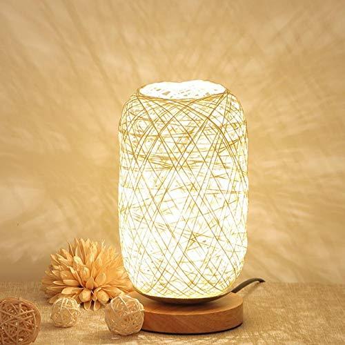 TTCDY Nachttischlampe Wicker Led SchreibtischTischlampeLichtNachttischlampe Schlafzimmer Dekoration Nachtlicht Geburtstagsgeschenk Lichter Beleuchtung
