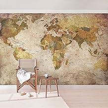 Fotomural - World Map - Mural apaisado, papel pintado, fotomurales, murales pared, papel para pared, foto, mural, pared barato, decorativo