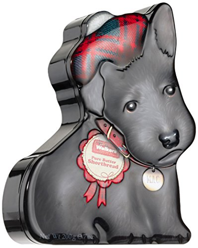 Preisvergleich Produktbild Walkers Shortbread Gebäckdose Wee Scottie Dog Mac,  Reliefdose inklusive Shortbread-Gebäck,  200 g