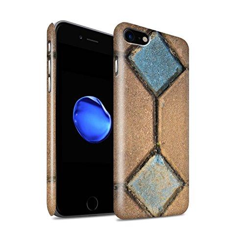 STUFF4 Glanz Snap-On Hülle / Case für Apple iPhone 8 / Steinboden/Orange Muster / Stein/Rock Kollektion Pflasterung
