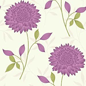 fanfare i love wallpaper tapete blumenmuster rot gr n. Black Bedroom Furniture Sets. Home Design Ideas