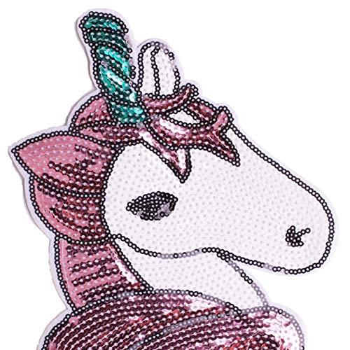 dyudyrujdtry Estrictas Lindo Unicornio Bordado Termoadhesivo Parche Aplique Costura Ropa Pegatina Prendas Accesorios Accesorios Insignia para Decoración Hogar - Unicornio