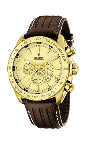 Festina Men's Quartz Watch with Chronograph Quartz Leather F16879/2