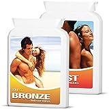 MyTan Ultimate Tanning Pack (MyTan Bronze & MyTan Boost)   2 x100 Sun Tanning Pills   High Potency Beta Carotene Tanning Tablets   Get a Healthy, Safe Tan Today