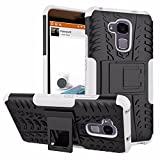 Parallel Universe Huawei Honor 5C Back Cover Case Dual Layer Rugged and Tough Defender with Built-in Stand - White