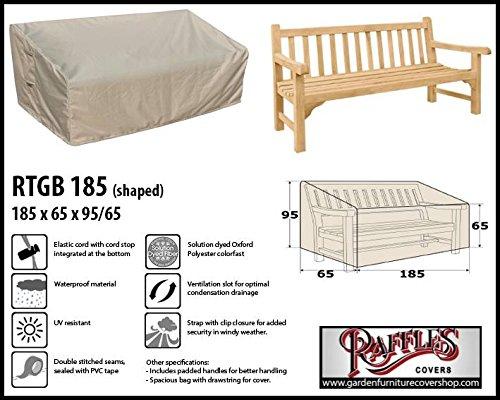 Raffles Covers RTGB185 Schutzhülle für Gartenbank 3 Sitzer Schutzhülle für rechteckigen...