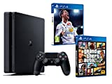 PS4 Slim 1Tb Negra Playstation 4 Consola - Pack 2 Juegos - FIFA 18 + GTA V
