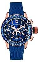 Reloj Nautica Bfc Chrono Rose Caucho Azul de Nautica