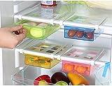 Highdas 2X Multi Kühlschrank Lagerung Schublade Gefrierschrank Lagerung Regal Kühlschrank Organizer Space Saver Regal, 20.5 * 15 * 7,3 cm [8 * 6 * 2.8 inch], Farbe Radom