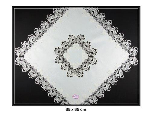 Mitteldecke mit Spitze von SOUNON® - 85 x 85 cm (Model 003)