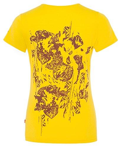 VAUDE women's t-shirt gleann iI t-shirt pour femme Jaune/noir - Jaune