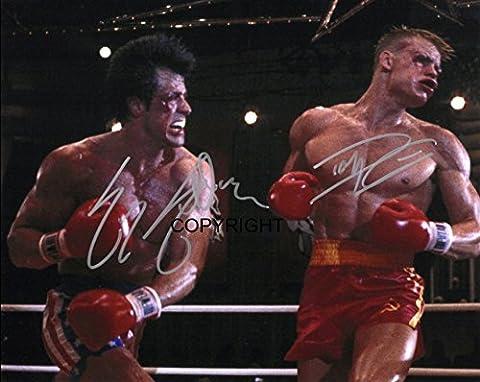 Limited Edition Rocky Dolph Lundgren Rocky Signiert Foto Autogramm signiertsigniertes