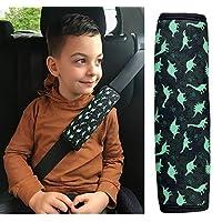 HECKBO 1x dino dinosaur car seatbelt protection protector seatbelt shoulder pad shoulder pads car seats seatbelt pad for children boys/boy