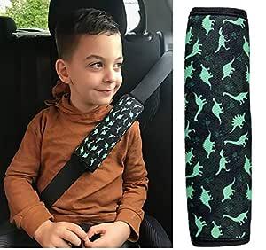 T/ürkis//Rosa von HECKBO 2x Auto Gurtschutz Sicherheitsgurt Schulterpolster Schulterkissen Autositze Gurtpolster f/ür Kinder und Erwachsene