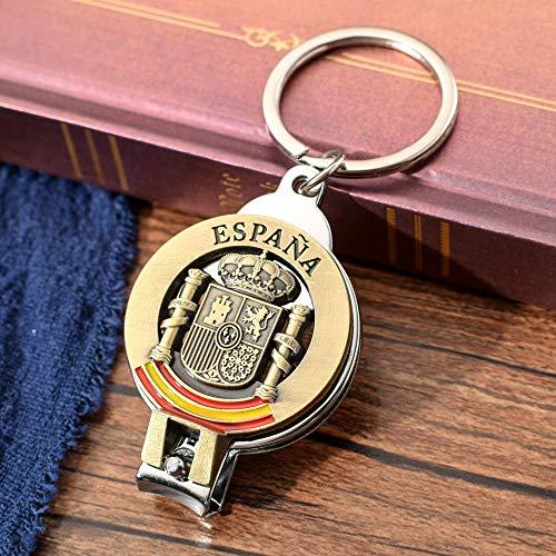 VAWAA Antike Bronze Nagel Clipper Schlüsselanhänger Spanischen Nationalen Emblem Zinklegierung Öffner Schlüsselanhänger Spanien Souvenir Schlüsselanhänger Schlüsselanhänger - Nagel Clippers Schlüsselanhänger