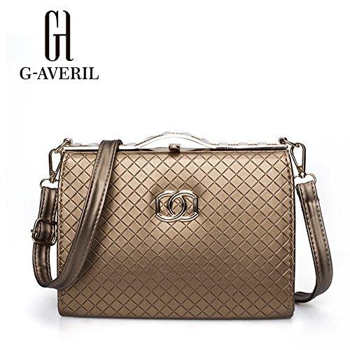 (G-AVERIL) Borsa a Mano Spalla Donna Elegante Pelle Ragazza Grande Borsetta Borsa Tote Shopping Bag Handbag for Women oro