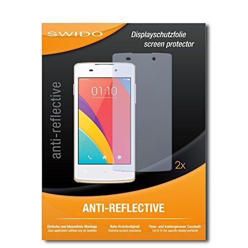 SWIDO Schutzfolie für Oppo Joy Plus [2 Stück] Anti-Reflex MATT Entspiegelnd, Hoher Härtegrad, Schutz vor Kratzer/Bildschirmschutz, Bildschirmschutzfolie, Panzerglas-Folie