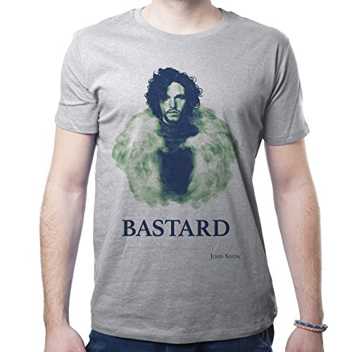 Game Of Thrones Jon Snow Quote Bastard Herren T-Shirt Grau