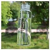 Bottiglia in vetro per bevande e spremiagrumi uso con guarnizioni in silicone silicone Carrying loop, Brown