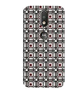 99Sublimation Checks In red flower 3D Hard Polycarbonate Designer Back Case Cover for Motorola Moto G4 Plus