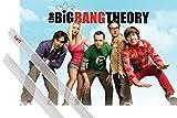 Poster + Hanger: Big Bang Theory Poster (91x61 cm) Himmel Inklusive Ein Paar 1art1® Posterleisten, Transparent