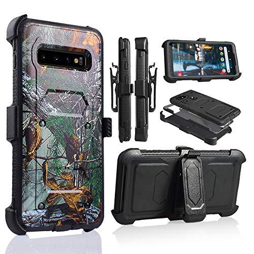 6goodeal Schutzhülle für Galaxy S10 Plus, Militärqualität, mit eingebautem Ständer, 6.3 inch, Camouflage - Att Dual-sim-handy