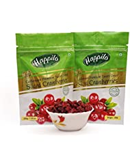 Happilo Premium Californian Sliced Dried and Sweet Cranberries, 200g (Pack of 2)