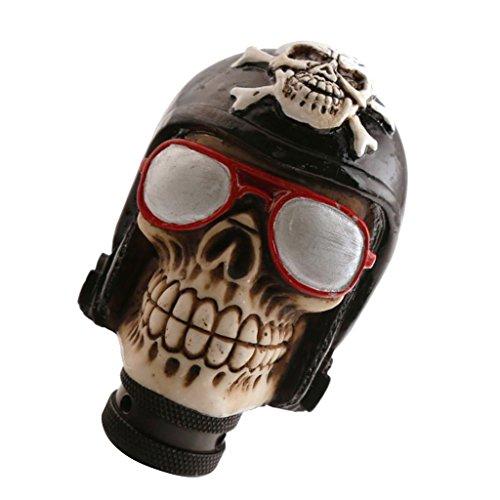 Sharplace Bouton de Changement de Vitesse Manuel Skull Crâne Tête Forme