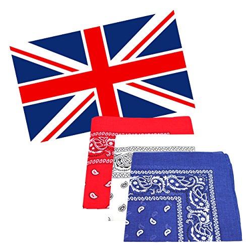 United Kingdom Union Jack 5x 3ft Flagge mit 3passende Halstücher