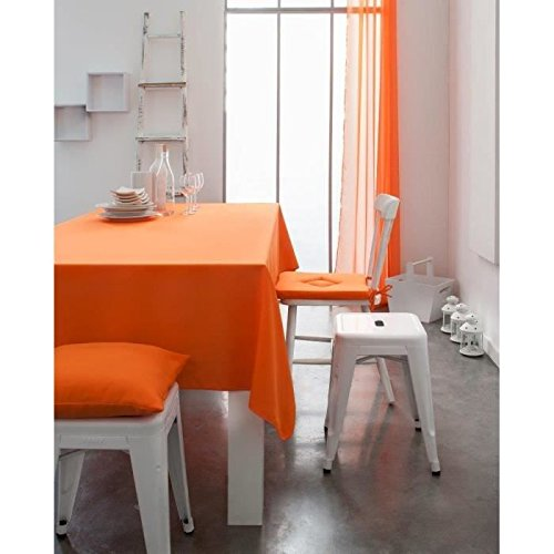 Today 257545 nappe coton mandarine/orange 140 x...