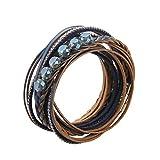 Best Cadeaux personnalisés Wraps main - JOYMIAO Bracelet en cuir cristal multicouche tressé Wrap Review