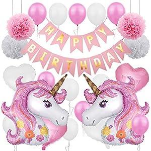 CNNIK Unicornio Decoración de cumpleaños,