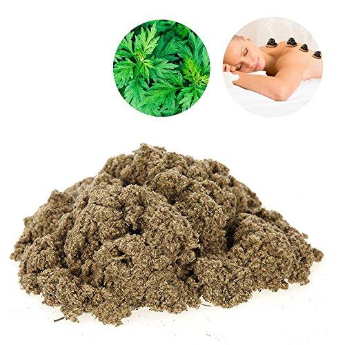 Gold Moxa Premium Artemisia naturale per moxibustione ad espellere freddo alleviare il dolore Moxibustione Moxa Health Care riscaldamento Massaggio(1000g)