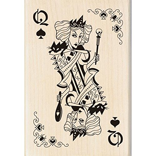 n montiert Gummi Stempel 2,75Zoll) X 4-Zoll, Hexe Queen Spielkarte (Inkadinkado Stempel Halloween)