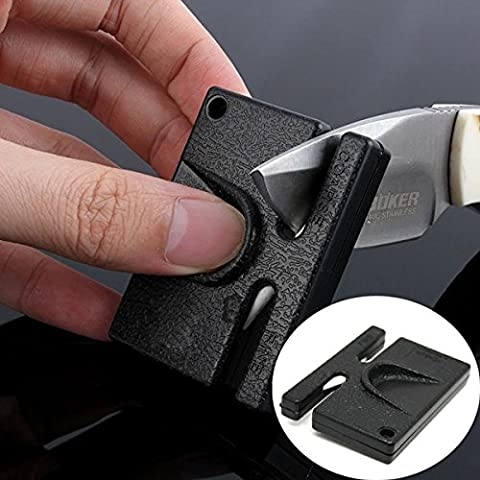 Bluelover Ceramic Mini Pocket Sharpener Gardening Outdoor Camping Portable Knife Sharpening Tool