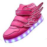 Gaorui Kinder Jungen Mädchen Unisex Multi-Color-Blink Turnschuhe mit Bunte LED aufladende leuchtende Sportschuhe Sneakers mit Flügel-Art mit USB Outdoor 4 Colors Modes Shoes, super tolles Geschenk