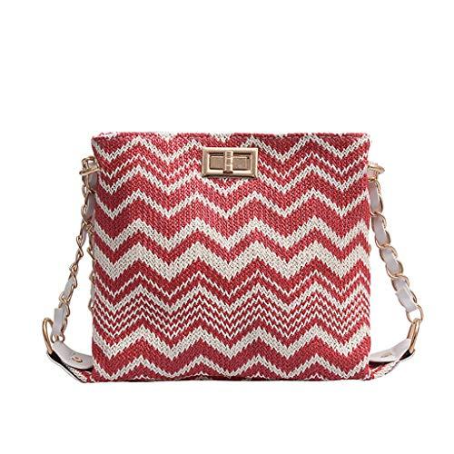 LILIHOT Frauen Stroh Vielseitige Messenger Bag Fashion Single Schulter Small Square Bag Damen Umhängetasche Mode Mädchen Schultertasche Quadratische Tasche Handtaschen