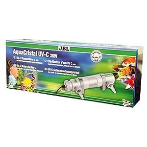 JBL 6035400 Wasserklärer zur schnellen Beseitigung von Trübungen in Aquarien, AquaCristal UV-C 36W, 60354