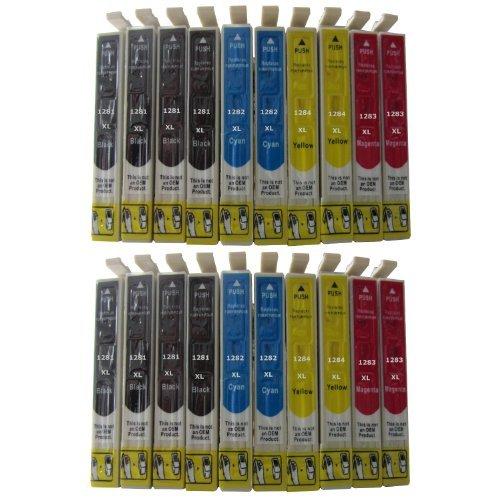 ESMOnline 20 komp. Druckerpatronen für Epson Stylus Office BX305FW Plus BX305FW BX305F Stylus SX445W SX440W SX435W SX420W SX235W SX130 SX125 S22 (T128x) (Epson-tinte 200 Wf2530)