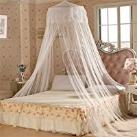 bismarckbeer Princess Bed Net Canopy Bedding Decor Sweet Style Round Dome Mosquito Net