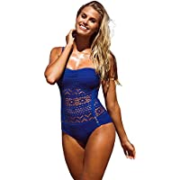 Lookbook Store Damen einteilig Schwimmanzug SW-116 mit abnehmbarem Nackenband, teilweise gefüttert