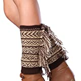 Jelinda® Damen Gestricktes Böhmen Tassel Beinlinge Socken (Stil 1)