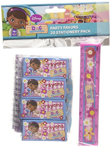 Amscan Doc McStuffins 20-Piece Stationery Pack Party Accessory