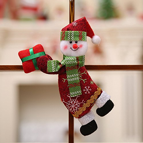 Producto navideño, JiaMeng Adornos de Navidad Regalo Papá Noel Muñeco de Nieve Árbol Juguete Muñeca Colgar Decoraciones