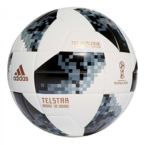 adidas uni World Cup Top Replique Fútbol, White/Black/Silver Metallic, 5