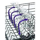 HCFKJ 1pc / 2pcs / 4pcs justieren Silikon Wein Glas Spülmaschine Becher Halter Safer Stemware Saver (4PC)