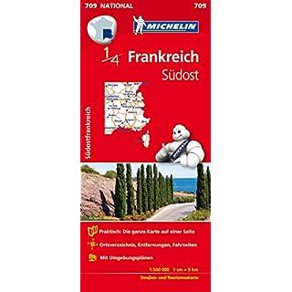 Michelin Südostfrankreich: Straßen- und Tourismuskarte Frankreich 1:500.000 (MICHELIN Nationalkarten, Band 709)