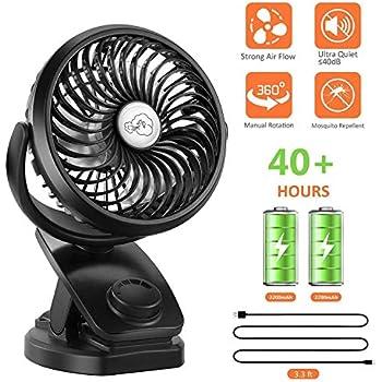Mini Fan Usb Etmury Usb Rechargeable Desk Fan Battery