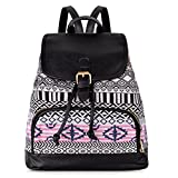 Vbiger Ladies Canvas Backpack Ethnic Rucksack Casual Travel Daypack School Bag